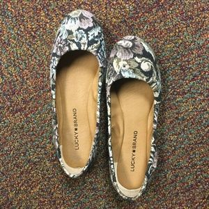 LUCKY BRAND Ballet Flat Fabric Size 7 SHOES